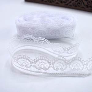 10 yards/Lot white cotton net lace fabric 22mm wide african lace fabric DIY embroidery lace ribbon trimmings sewing accessories