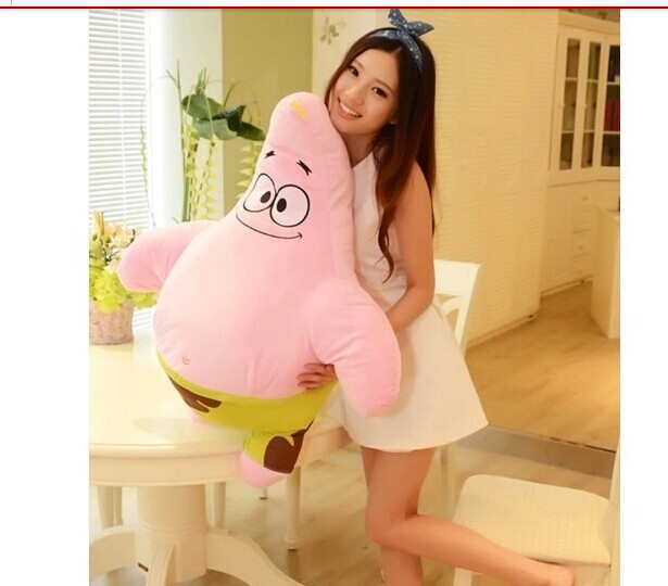 Movie & TV figure 85cm Patrick Star plush toy doll soft throw pillow gift w2072 lovely giant panda about 70cm plush toy t shirt dress panda doll soft throw pillow christmas birthday gift x023