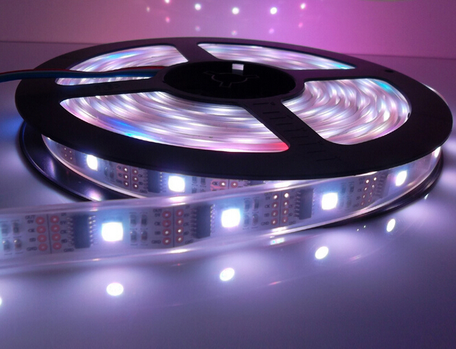 Dhl Gratis Vattentät 80X5M WS2801 IC Dream Color RGB LED Strip Adresserbar 32LED / M DC 5V 32st WS2801 IC LED Full Färg Strip