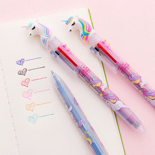 1X  Unicorn Ballpoint pen stationery canetas material escolar office pen school supplies creativ Stationery gift pencil new crystal ballpoint pen roller ball pen instead of fountain pen pencil box and bag brand gift stationery office school