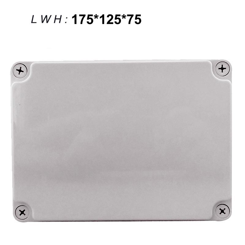 175*125*75mm outdoor waterproof junction box ABS plastic boxes sealed box plastic junction box enclosure surface mounted plastic sealed electric junction box case 230x126x80mm