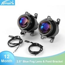 """Ronan 2.5 """"bi xenon projetor lente azul cnh11 lâmpada semelhante T W lentes de nevoeiro estilo do carro retrofit faróis automóveis para ford"""