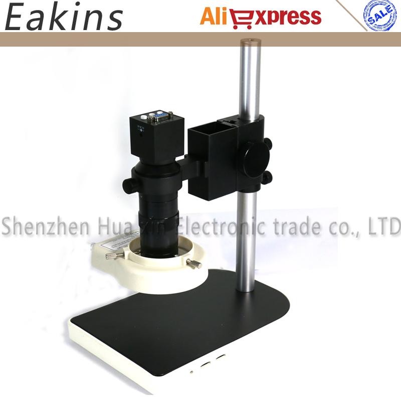 High Quality 2.0MP 1/2.5inch CMOS VGA Outputs Industry Microscope Camera+100X Zoom Lens and Metal holder+56 LED ring lightHigh Quality 2.0MP 1/2.5inch CMOS VGA Outputs Industry Microscope Camera+100X Zoom Lens and Metal holder+56 LED ring light