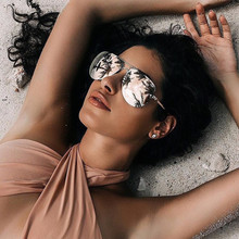 2018 High Quality Aviator Sunglasses Women Brand Designer Pilot Sunglass Women Female Men Sun Glasses For Women Mirror Sunglass