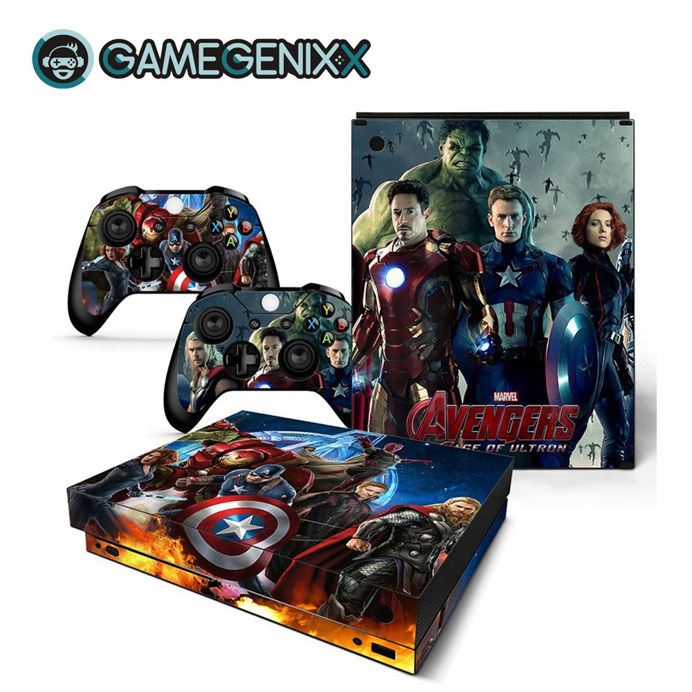 GAMEGENIXX Skin Sticker Vinyl Decal for Xbox One X Console and 2 Controllers - The Avengers(China)