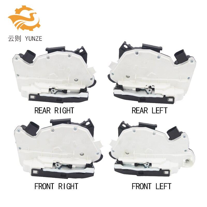 4PCS FRONT REAR LEFT RIGHT SIDE CENTRAL DOOR LOCK ACTUATOR FOR AUDI SKODA SEAT TIGUAN CC SCIROCCO AMAROK