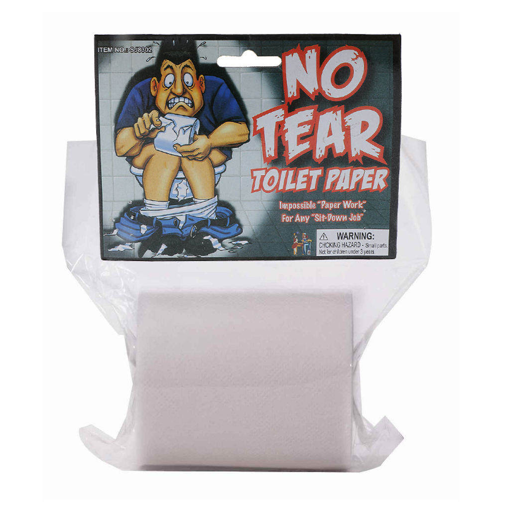 Bachelor Party No Tear Toilet Paper Look Feel Real Trick Party Joke Prank Prop for Halloween Hen Stage Weding Party Novelty