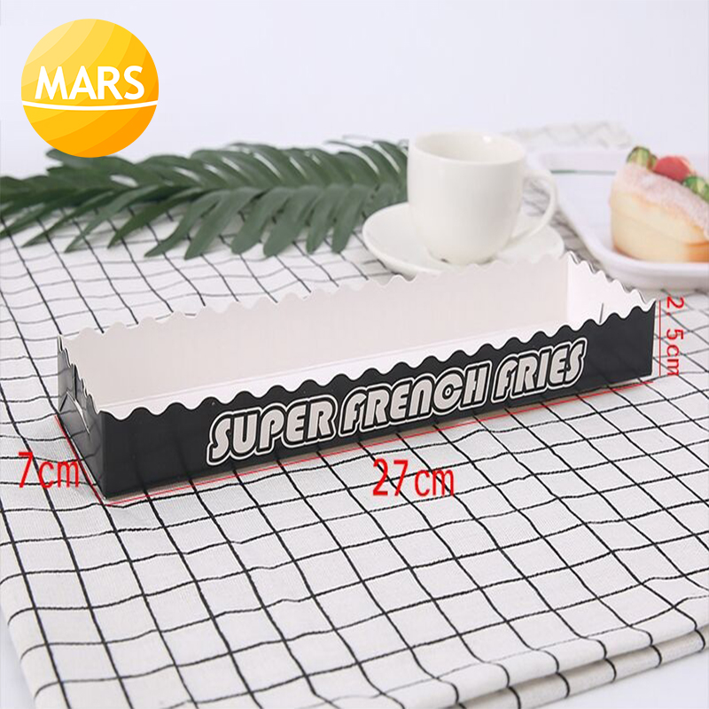 Long French Fries Paper Box Longest Potato Disposable Packing Box 100pcs/lot Packing Paper For Footlong Potato Fries Chips