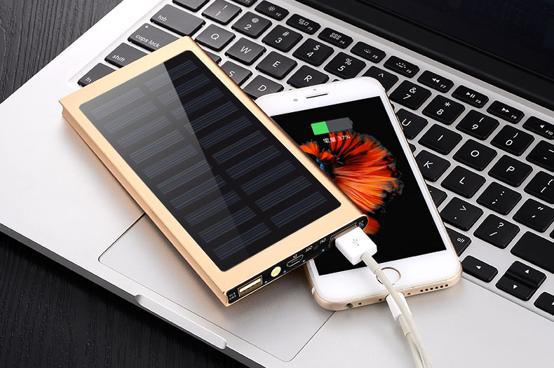 Waterproof 30000mAh Solar Power Bank in Metal Shell Design with Dual-USB Ports 11