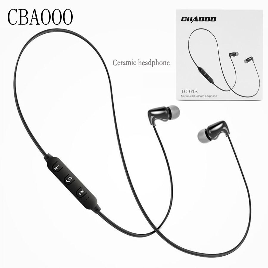 TC01S Ceramic Bluetooth Earbud Earphone Bass In Ear wireless Headsets Stereo Sport Earphones DJ HIFI Noise