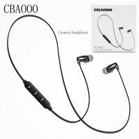 CBAOOO Ceramics 3 5mm In Ear Earphone Noise Sports Earphone DJ HIFI Bass Headset Earbuds Free