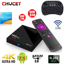 MX9 Pro mini Android 7.1 TV Box RK3328 Quad Core 4K VP9 H.265 HDR10 USB3.0 1G / 8G Mini PC 2.4G WiFi  LAN HD Media Player