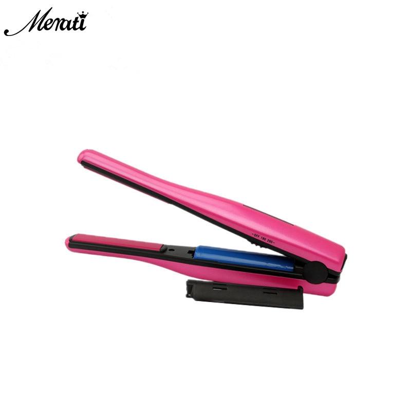 Mini Flat Iron Hair Straightener Iron 2 In 1 Hair Curl Tools Portable USB Charge Hair