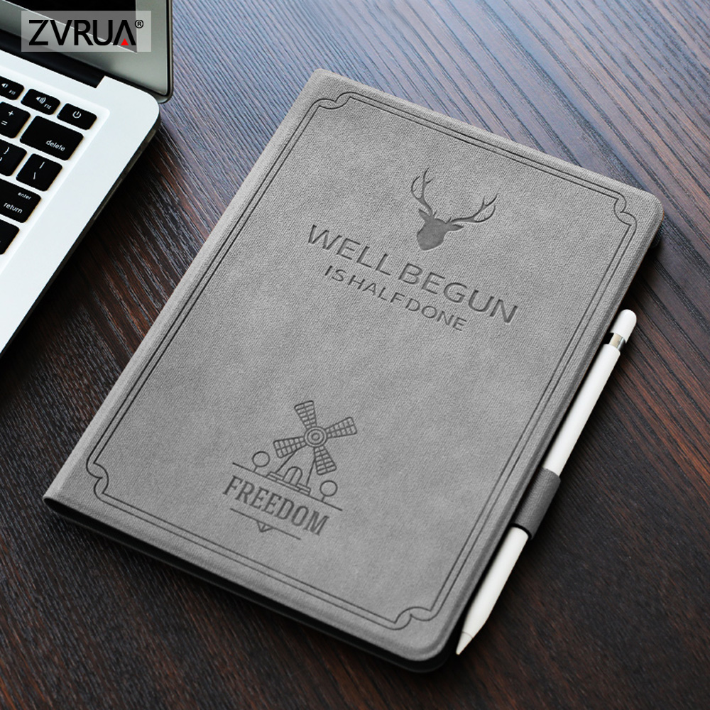 For iPad Air Pro 10.5 inch, ZVRUA Auto Sleep Smart Cover Deer Pattern PU Leather Soft silicone Case with Pencil HolderFor iPad Air Pro 10.5 inch, ZVRUA Auto Sleep Smart Cover Deer Pattern PU Leather Soft silicone Case with Pencil Holder