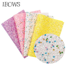22CM*30CM Glitter Synthetic Leather Fabric Chunky Home Party Wedding Decoration DIY Handmade Hairbows Materials