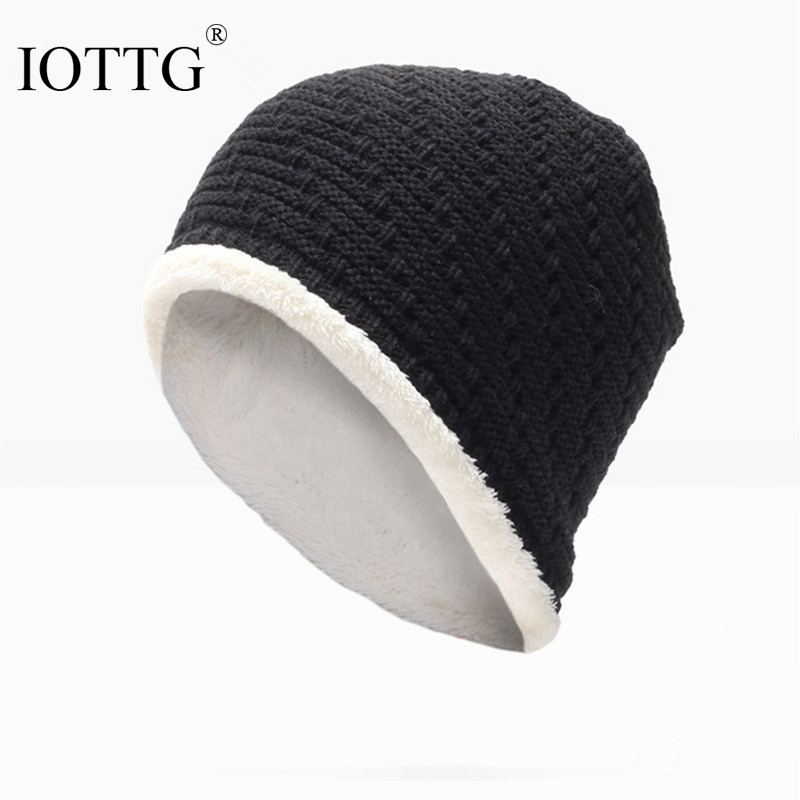 Brand IOTTG Men Women Skullies Beanies Winter Autumn Thickening Internal Plush Hedging Cap Knit Knitted Caps Bonnet Hat Warm skullies