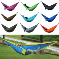 Portable Outdoor Parachute Camping Hammock Double Person Nylon Fabric Hanging Hammock Swing Bed