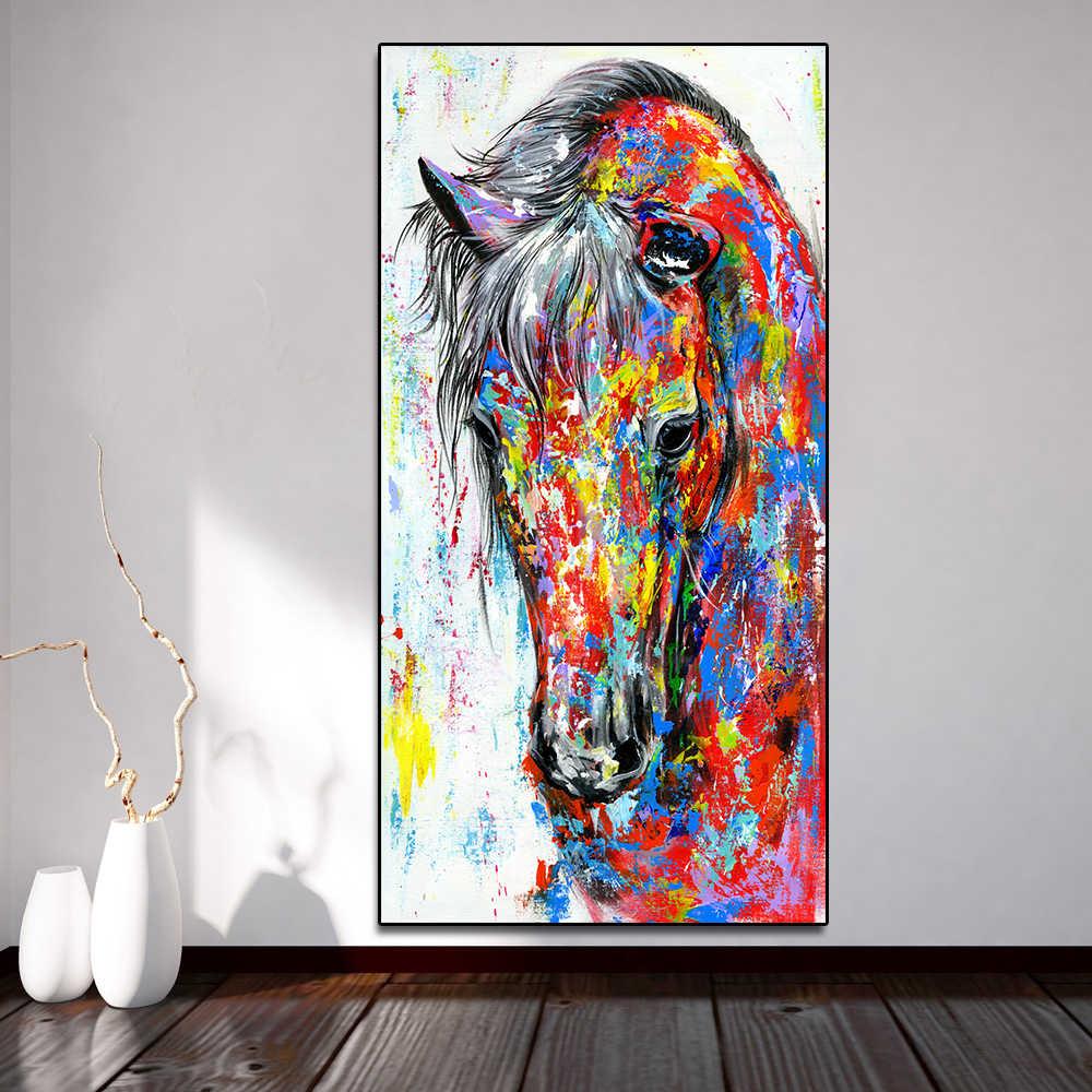 AAVV النفط اللوحة الملصقات تشغيل الحصان حائط لوح رسم الفن صورة مطبوعة على القماش جدار صور لغرفة المعيشة لا الإطار