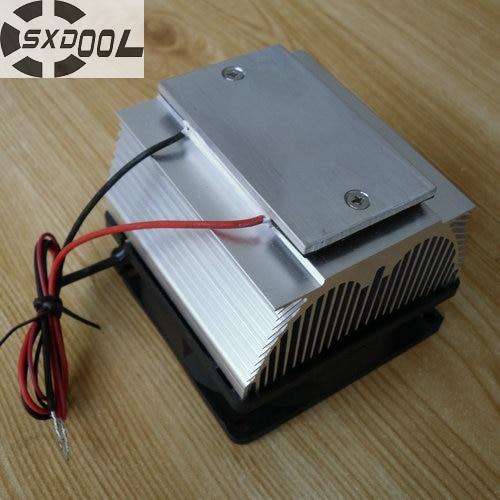 SXDOOL Enfriamiento! DIY Peltier Aire acondicionado placa de refrigeración TEC12706AJ 12V Ventilador de enfriamiento