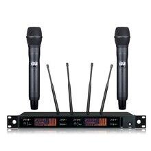 Новинка! Высокое качество истинное разнообразие цифровой беспроводной микрофон Система профессиональная производительность микрофон Цифровая система пилота