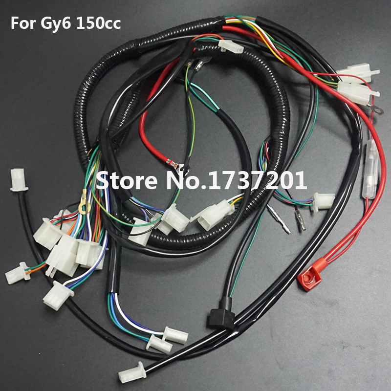 BUGGY WIRING HARNESS LOOM GY6 125cc 150cc Chinese Electric start