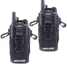 2 pçs abbree MSC 20E portátil rádio náilon caso capa handsfree titular para walkie talkie baofeng UV 5R UV XR UV 9R mais BF 888S