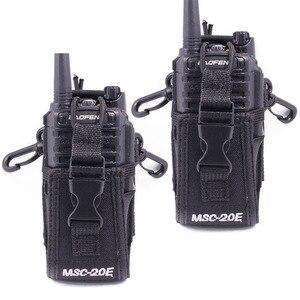 Image 1 - 2pcs Abbree MSC 20E Portable Radio Nylon Case Cover Handsfree Holder for Walkie Talkie Baofeng UV 5R UV XR UV 9R Plus BF 888S