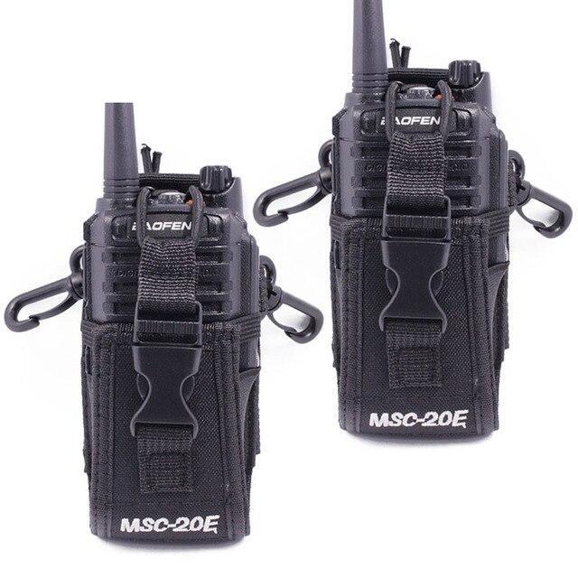 2pcs Abbree MSC 20E Portable Radio Nylon Case Cover Handsfree Holder for Walkie Talkie Baofeng UV 5R UV XR UV 9R Plus BF 888S