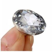 AIMA 50pcs Crystal Diamond Rhinestone Round Buttons Upholstery Headboard Sofa Cloth