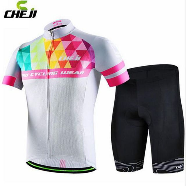 2017 CHEJI High Quality Riding Ropa Ciclismo Men Cycling Jersey   Bib Short  Sets Short Sleeve Summer Bicycle Wear Clothing Suit 3040e38b5