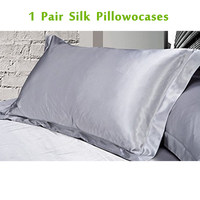 1 Pair 100 Pure Silk Pillowcase Pillow Cases With Envelope Soft Pillow Cover For Healthy Sleep