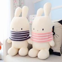 New Kawaii Bunny Couple Rabbit Cartoon Doll Soft Pillow Plush Stuffed Animal Toys Bolster Kids Children Christmas Gifts Cushion