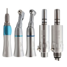 Dental Low Speed Handpiece Kit Air Turbine Straight Contra Angle Air Motor 2/4Holes Available BODE 122C