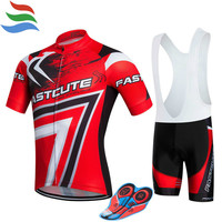 FASTCUTE Cycling Jersey set 2017 100% polyester bike gel maillot ciclismo men mtb cycling clothing #63