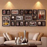 Фоторамки для картин деревянная фоторамка современная картина рамки кадровое фото настенный набор украшения рамки для декора 20 штук