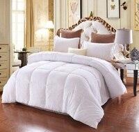 Kurze Feste Winter Bettdecke Dicke Daunenlieferant Inneren Einzigen Doppel Bettwäsche Quilt Weiß Schwarz Rosa Grau #229