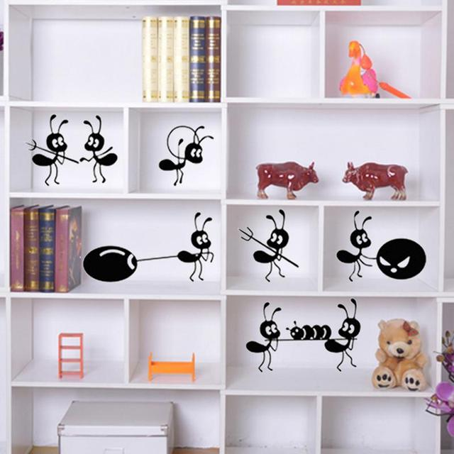 New diy decoration ant moving house stickers window stickers cartoon ant wall stickers