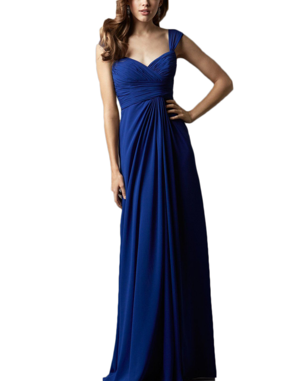 2016 Wholesale Blue Sweetheart   Bridesmaid     Dresses   4 Styles Long Chiffon Summer Beach   Bridesmaid   Gowns Vestidos De Festa