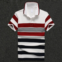 2016 Breathable Polo Shirt Homme Regular Plus Size Brand Clothing Contrast Short Sleeve Polo Shirt Tommis Polo Ralphmen Striped