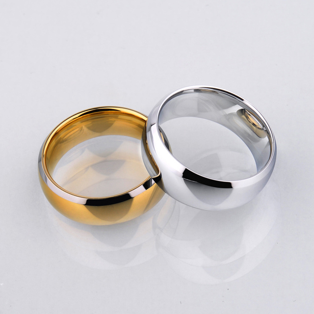 Famous Silver/Gold Tungsten Men's Rings
