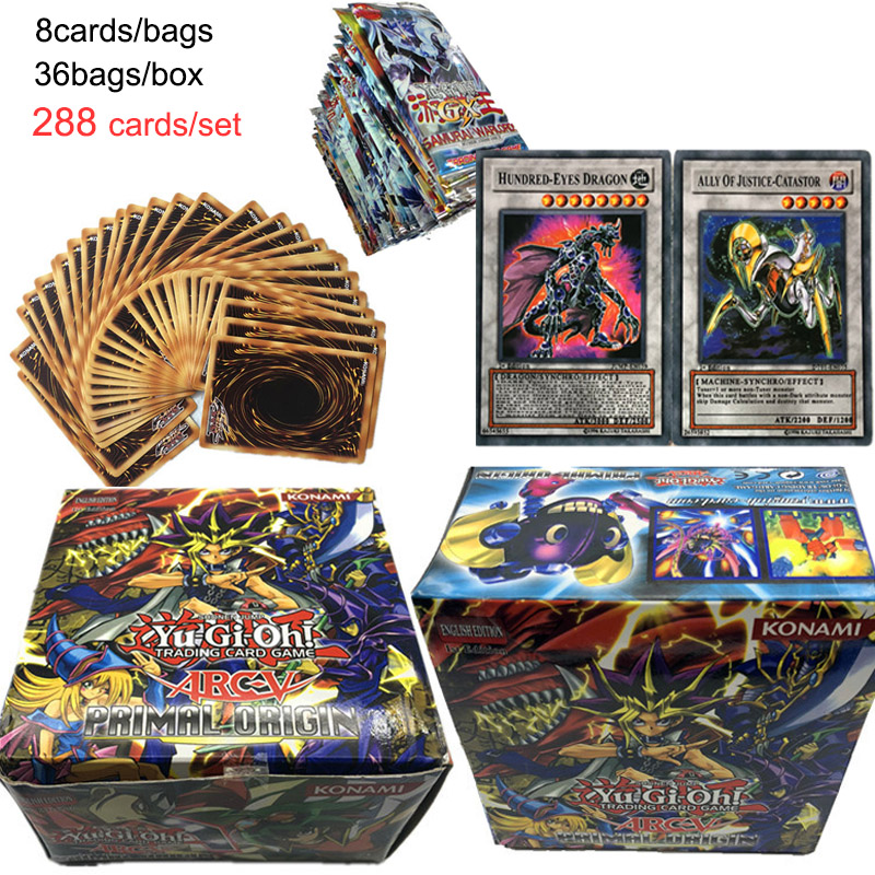 New High Quality 288pcs Yu Gi Oh English Game Card English Table Card Bling Bling Children Play Cards Yugioh Collections image