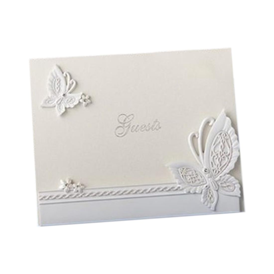 Elegant wedding guest book Diamante butterfly signature book