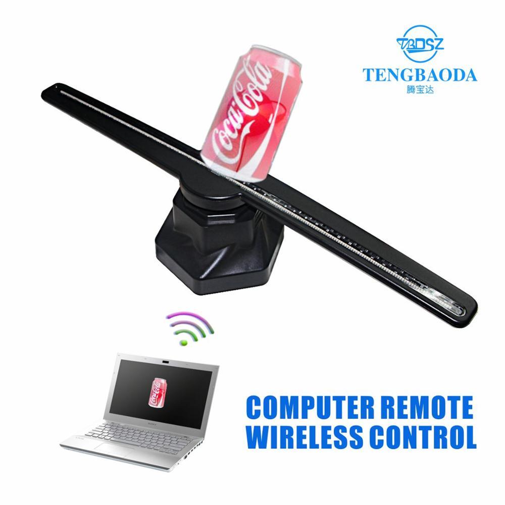 TBDSZ ordinateur Wifi 3D hologramme projecteur publicité affichage LED holographique ventilateur à l'œil nu lumière 3d publicité logo lumière - 2
