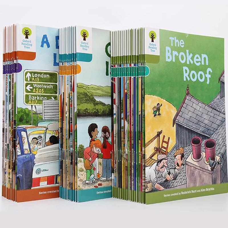 1 Set 40 livres 7-9 niveaux Oxford lecture arbre lire Phonics anglais histoire livre photo jouets éducatifs pour enfants enfants cadeaux