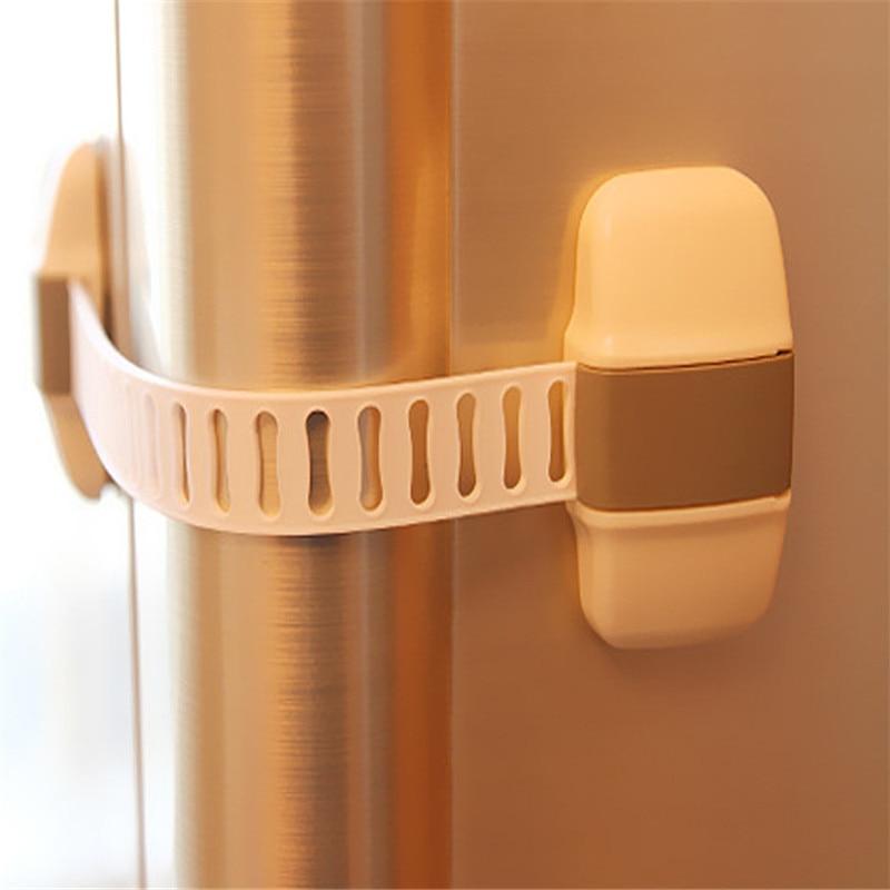 50 Pc /lot Cabinet Lock Door Drawers Wardrobe Todder Kids Baby Safety Plastic ABS PE Toilet Refrigerator Lock ATRQ0469