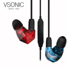 VSONIC NEW VSD5Si Earphone High Fidelity Quality Nois-isolation IEMs In-Ear with Microphone VSD5S i