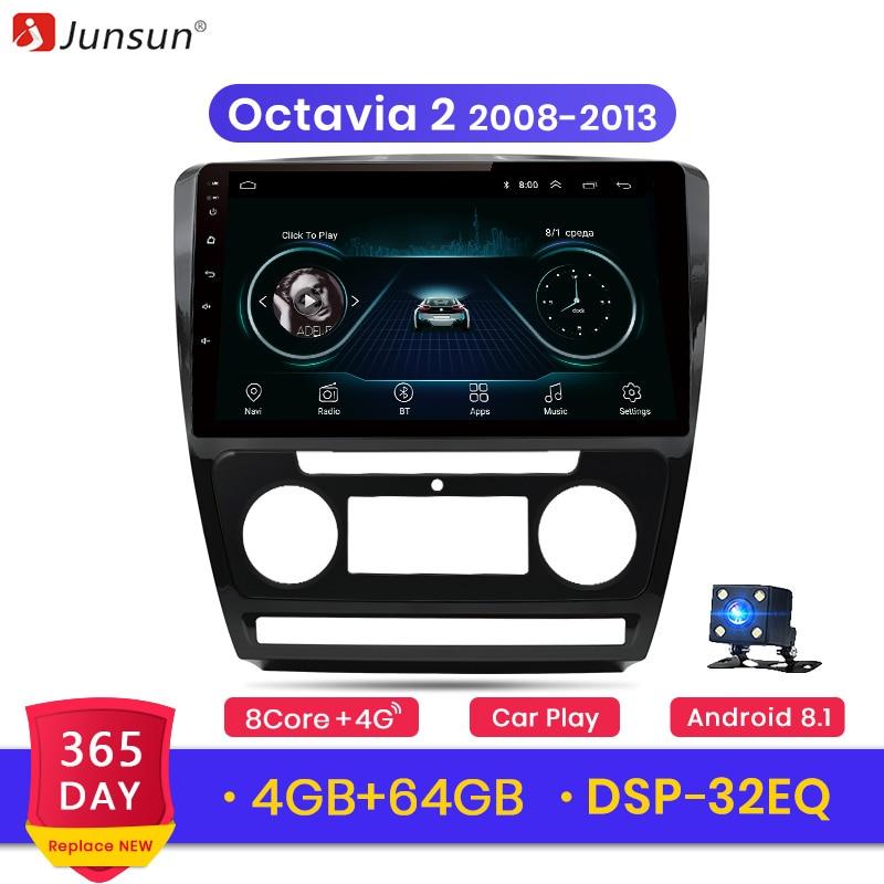 Junsun Android 9 0 for SKODA Octavia 2 2008 2013 Auto 2 Din Car Radio Stereo