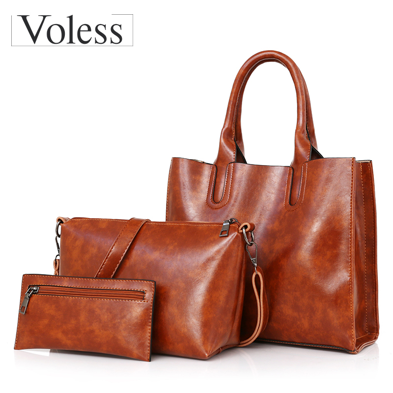 3PC Luxury Handbags Leather Women Bags Large Capacity Composite Bag For Women Shoulder Bags Female Messenger Bag Ladies Totes smc type pneumatic solenoid valve sy3520 5lzd m5