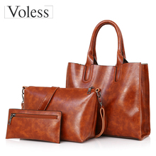 b5ca931f3f8f 3PC Luxury Handbags Leather Women Bags Large Capacity Composite Bag For Women  Shoulder Bags Female Messenger