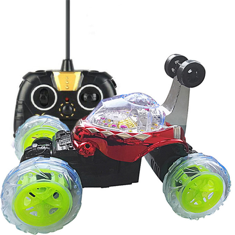 Mooistar2 #4005 360 Spin Fashion Stunt Car Music Remote Control LED Lights Rechargeable